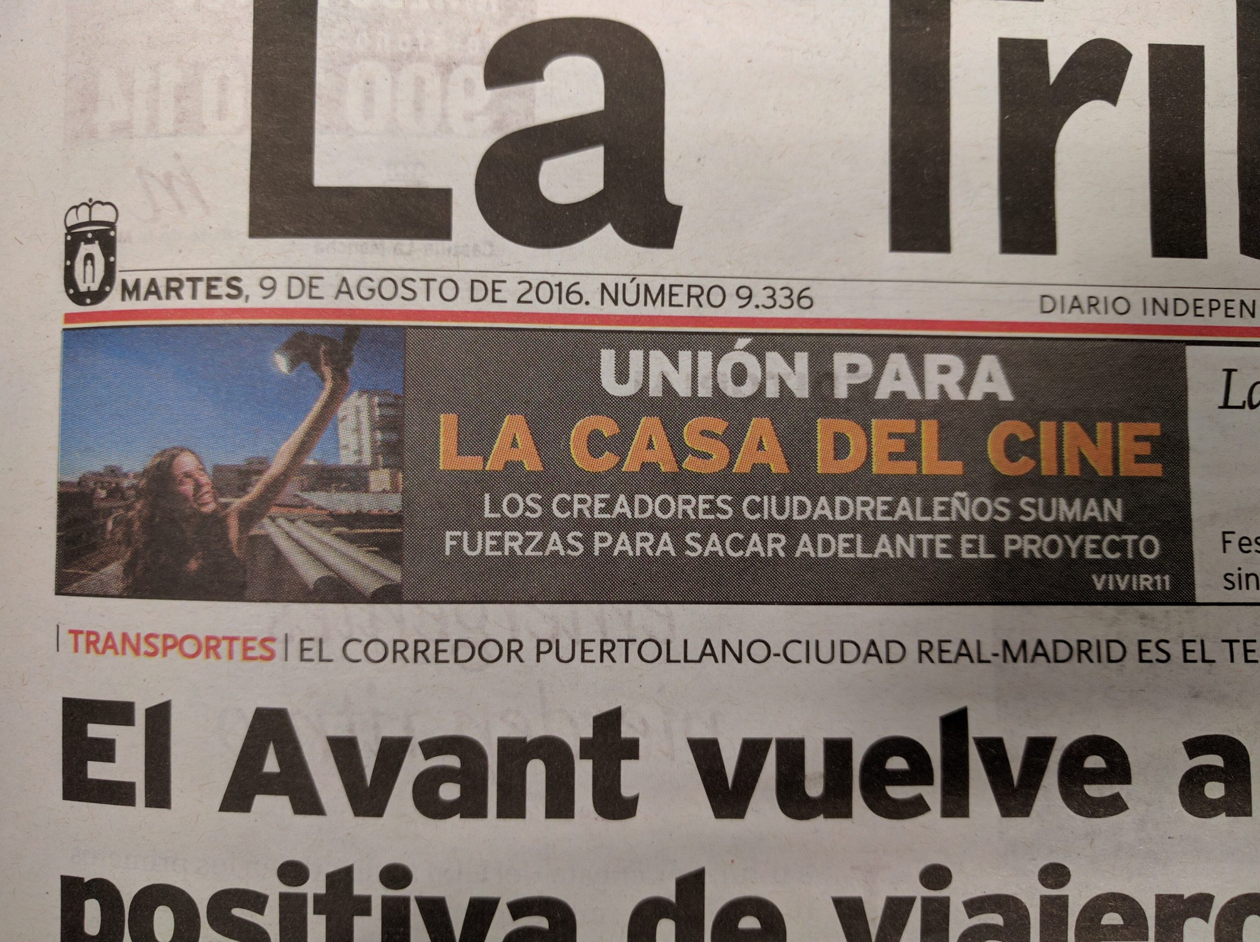 Entrevista La Tribuna // Agosto 2016