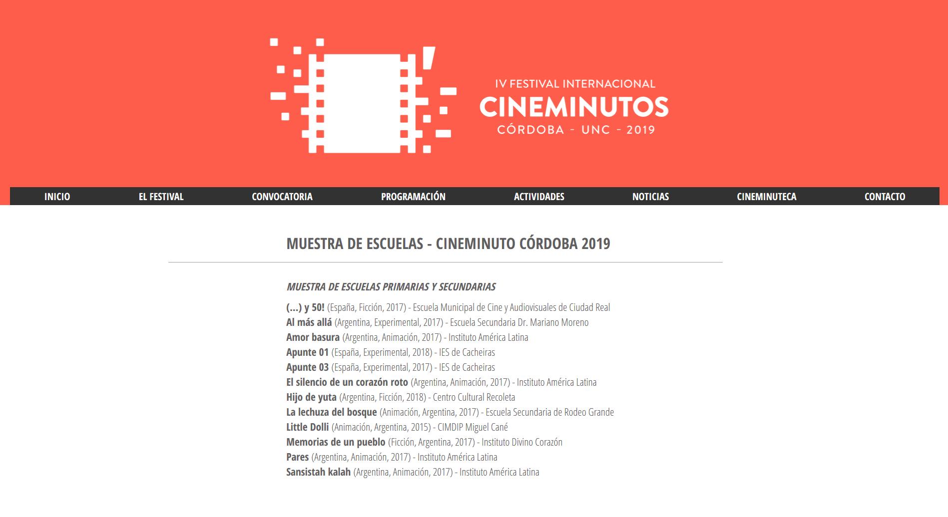 IV Festival Internacional de Cineminutos de Córdoba