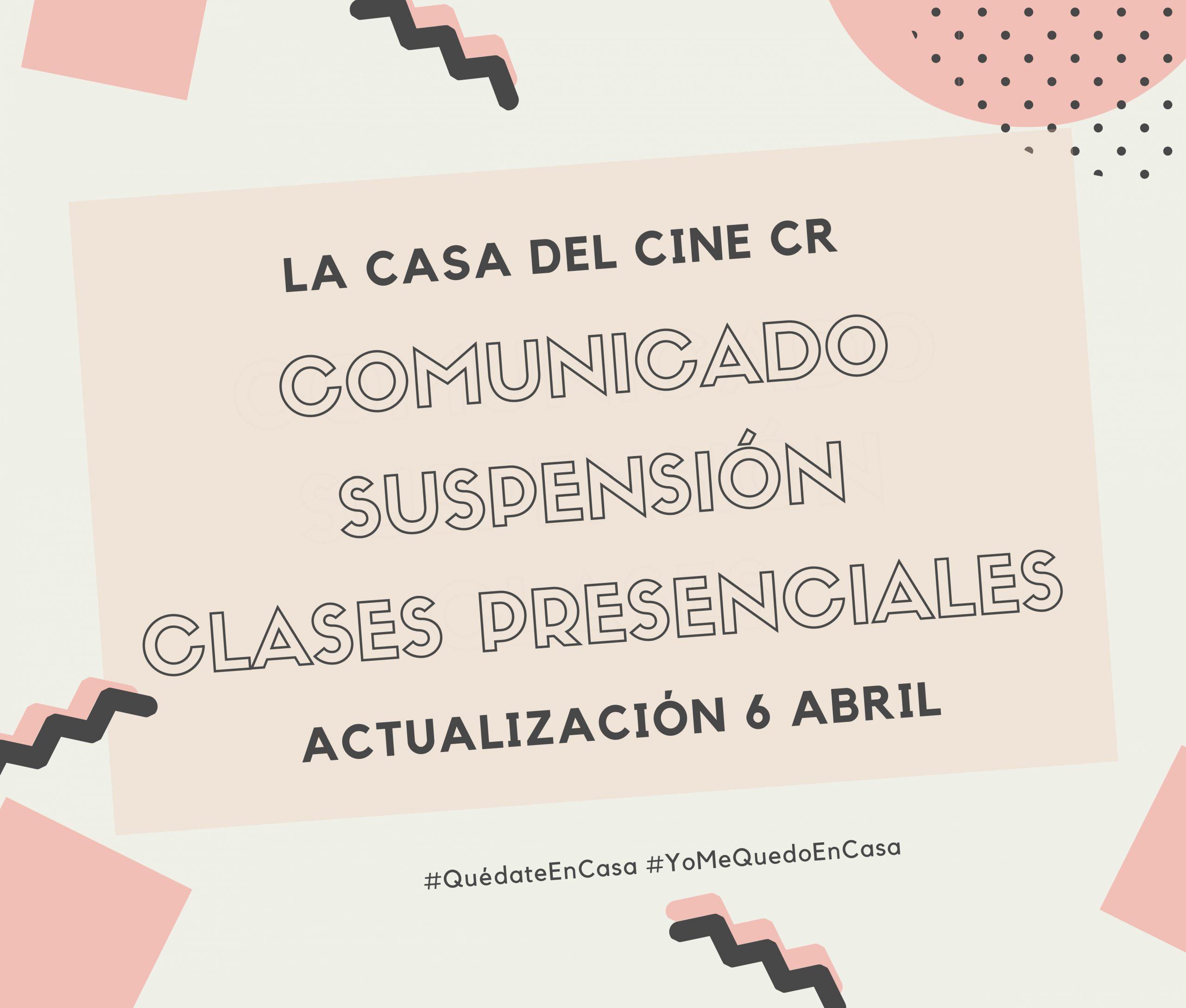 Comunicado // Suspensión clases presenciales