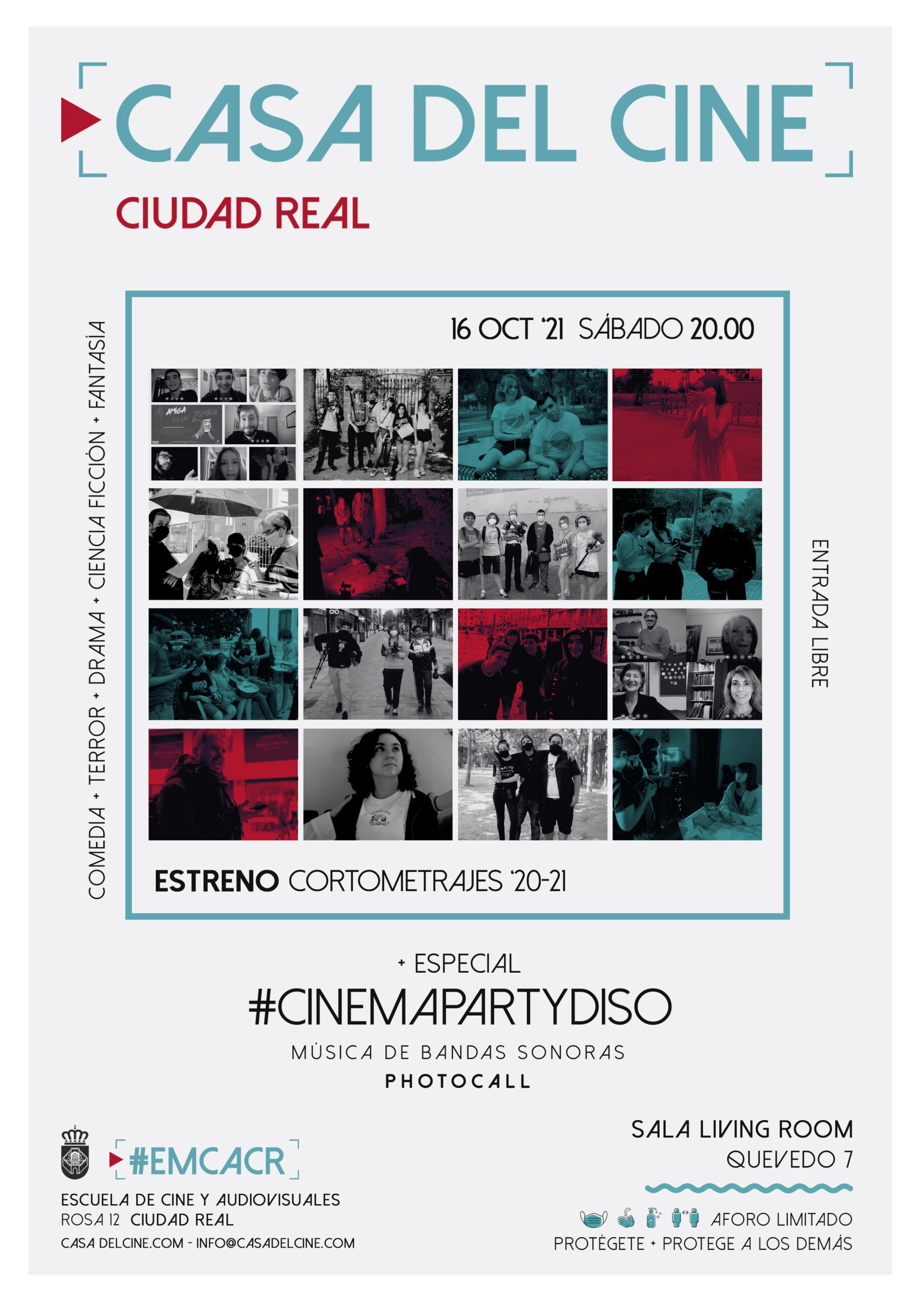 Estreno Cortometrajes '20-21 + #CinemaPartydiso